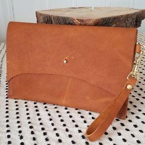 Organic Leather Clutch